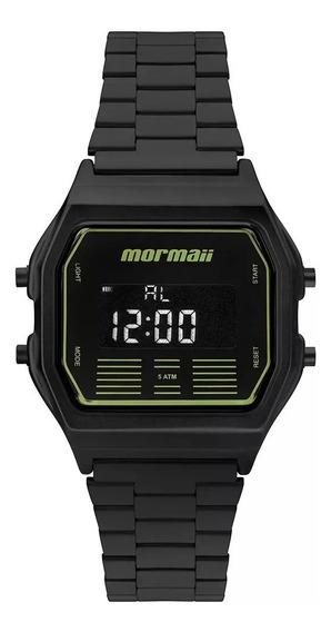 Relógio Mormaii Masculino Quadrado Preto Verde Grande