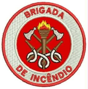 Patch Bordado Brigada De Incêndio Bombeiro 6,5cm Prf71