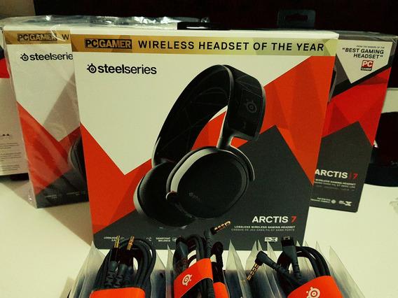 Headset Steelseries Arctis 7 2019 Wireless 24h Preto Gamer
