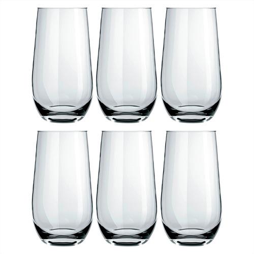 Vaso Vidrio Dubai Nadir Refresco 530 Ml X 6 Unidades