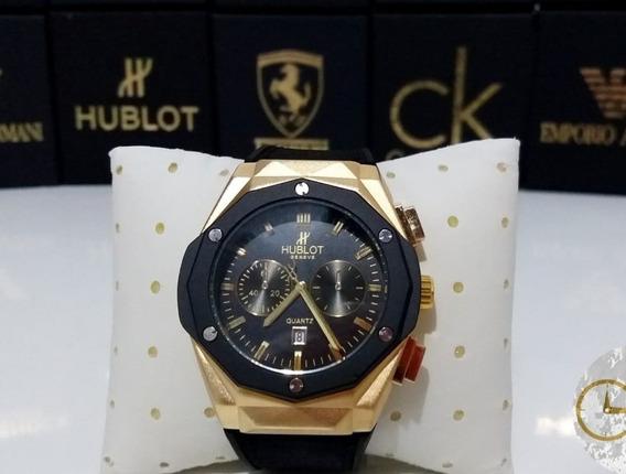 Relógio Big Bang Geneve Preto E Dourado