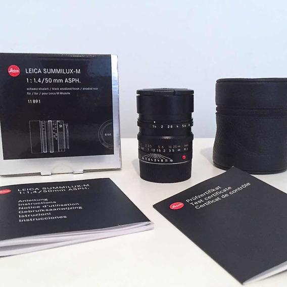 Lente Leica M 50mm F/1.4 - Summilux - Preta - Seminova