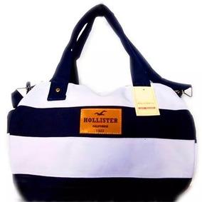 Bolsa Listrada Hollister Original