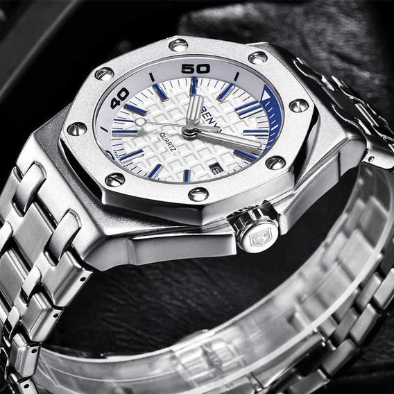 Relógio Pulso - Benyar - Original - 43mm - Hardlex - Estoque