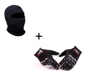 Kit Luva Moto Frio Intenso Sport Bike+touca Ninja Motoqueiro