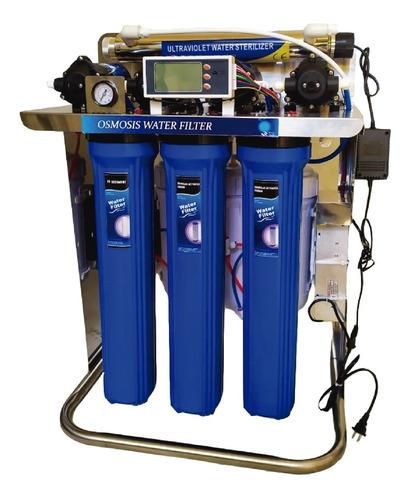 Filtro De Agua Ósmosis Inversa 2400 Galones Dia Luz Uv 25w