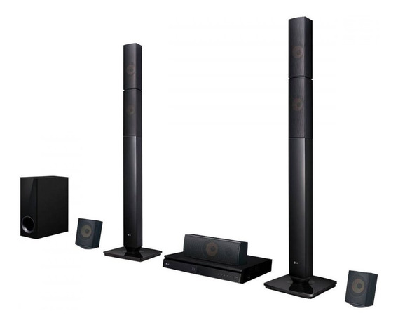Home Theater Com Blu-ray Lg Full Hd Lhb645n 5.1 Canais 1000w