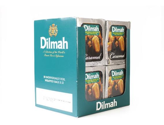 Té Negro Dilmah Caramelo Display 12 Unidades.