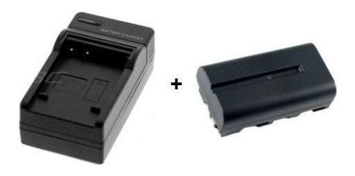 Carregador E Bateria Np F550 7.4v 2600mah Filmadora Led 160