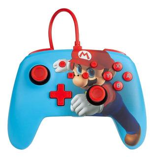 ..:: Control Pro Alambrico ::.. Switch Super Mario Blue
