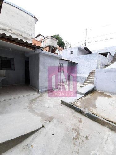 Imagem 1 de 8 de Casa Com 1 Dormitório Para Alugar, 24 M² Por R$ 950,00/mês - Vila Curuçá - Santo André/sp - Ca0287
