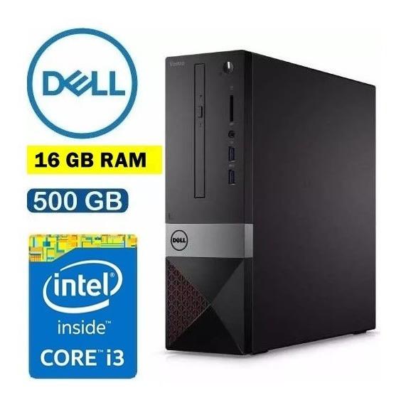 Computador Dell Completo /i3-7100/ Hd 500gb/ 16gb Wi-fi/hdmi