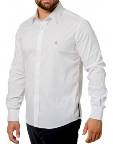 Camisa Social Lisa: Branca - Bianco Liscio