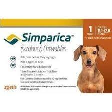 Anti Pulgas Carrapato Simparic 20mg 1comp Cães 5,1 A 10 Kg