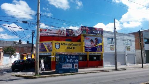 Excelente Local Comercial En Esquina En Puebla