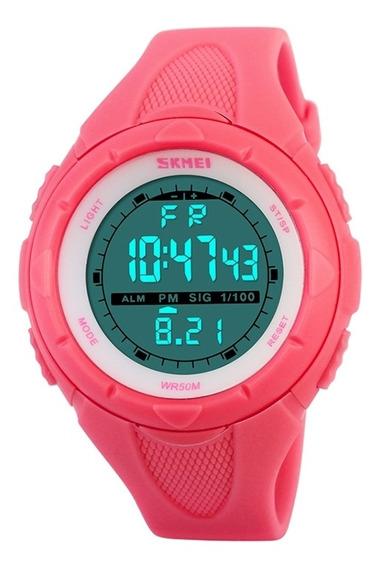 Relógio De Pulso Skmei 1074 Feminino Multifuncional Moda Ao