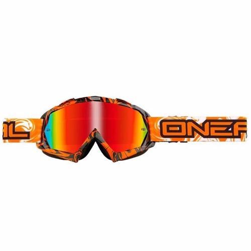Antiparra Espejada Moto O Neal Bflex Hendrix Negro/naranja