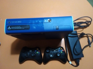 Xbox 360e 500gb 2 Joystick Edicion Limited Azul Fuente Orig