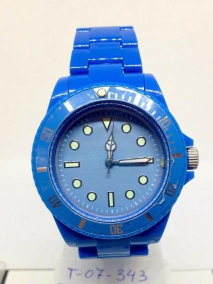 Relógio De Pulso Azul T07343 Feminino Webclock