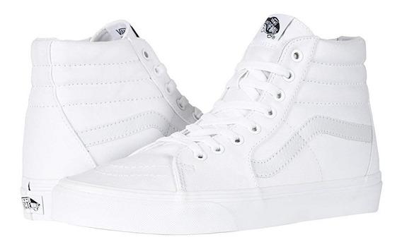 Tenis Skate Casuales Urbanos 100% Originales Vans Blanco