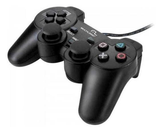 Controle 3 Em 1 C/ Fio Ps2/ps3/pc Js071 Preto Multilaser