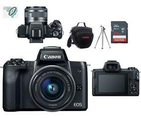 Canon Eos M50 + Ef-m 15-45mm Is Stm + Bolsa+tripé+64gb C10