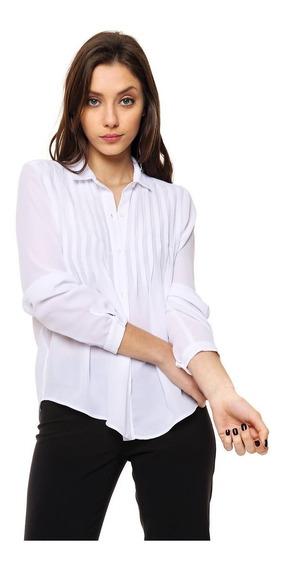 Camisa De Creppe Con Alforzas Mia Loreto Modelo Belarmina