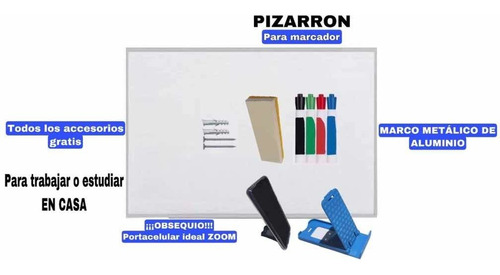Imagen 1 de 3 de Pintarron Blanco 40x60