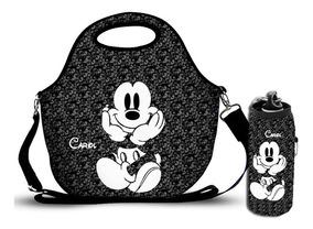 Bolsa Lancheira Mickey + Porta Squeeze