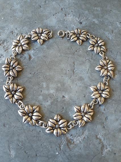 Pulseira Bali Flores Prata 925