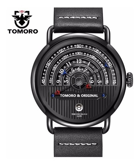 Relógio Pulso Masculino Tomoro Preto Luxo Promoção Barato