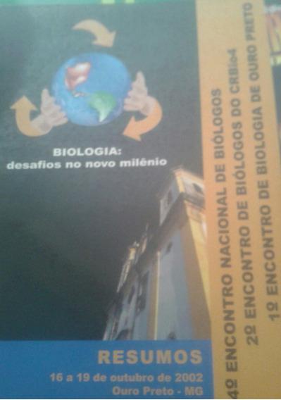 Caderno De Resumos Do 1° Encontro De Biologia De Ouro Preto