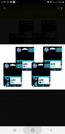 Cartucho Hp 670 Preto E Color