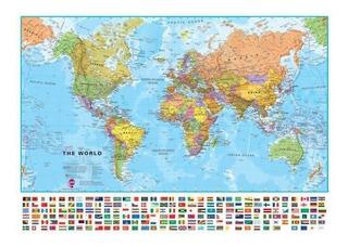 Mapas Del Mapa Internacional Del Mundo Grande Banderas Del
