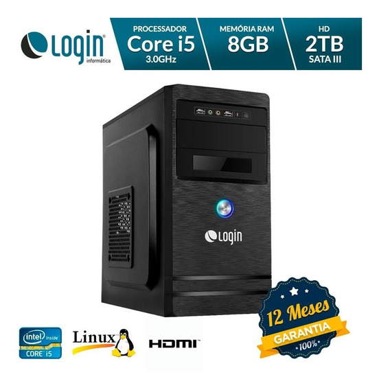 Computador Desktop Login Intel Core I5 8gb Ram 2tb Hd