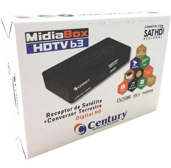 Receptor Midiabox B3 Century E Conversor Digital Midia Box