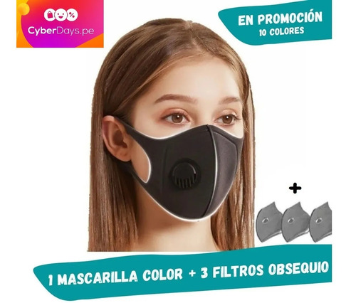Mascarilla Deportiva C/filtro Lavable Delivery N95 Certifica