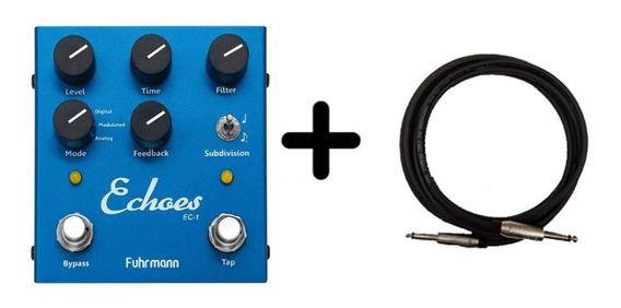 Pedal Guitarra Echoes - Tap Delay Ec01 Fuhrmann+santo Angelo