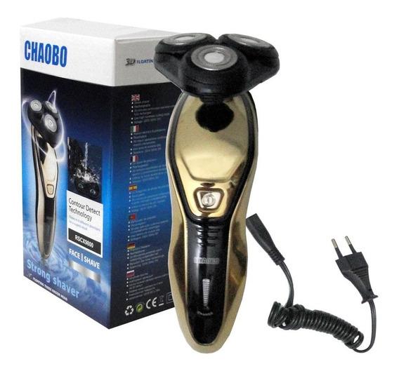 Barbeador Elétrico Rscx-9800 Chaobo Aparador Pelo 3 Cabeças