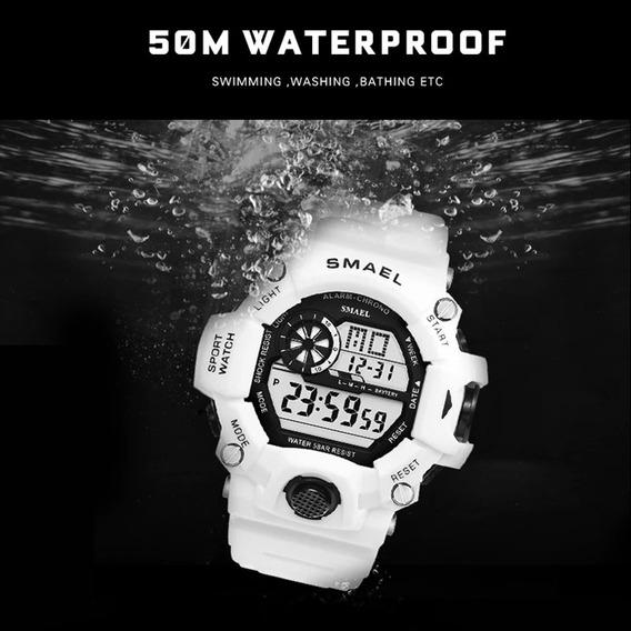 Relógio Branco Shock Militar
