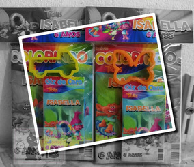 Promoção 20 Kit Colorir Personalizado+massinha+giz+cortador