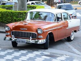 Chevrolet/gm Bel Air 1955 Impecável Original Placa Preta