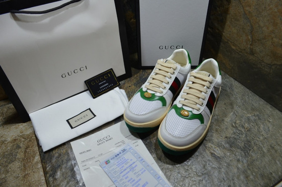 Tennis Gucci Tribanda Crema Verde, Envío Gratis