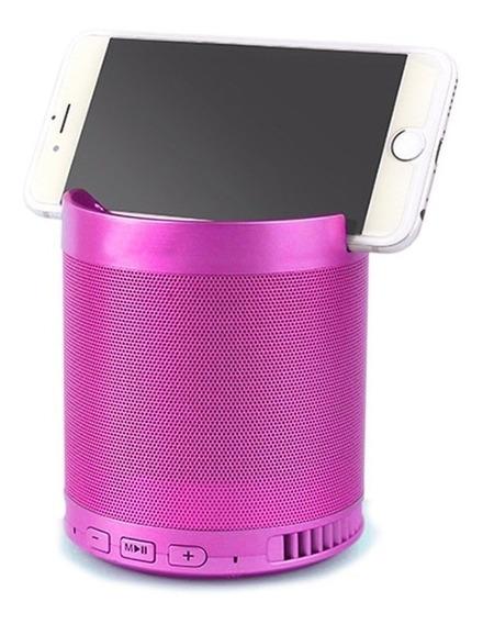 Caixa De Som Bluetooth Q3 Usb Mp3 Aux Com Suporte Celular