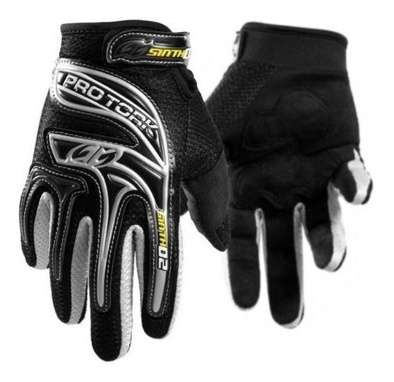 Luva Pro Tork Sinth 02 Preta Motocross Enduro Trilha Top