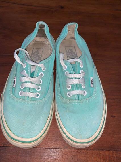 Zapatillas Vans Verde Agua N39 Usadas