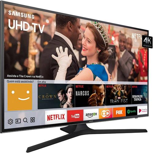 Imagem 1 de 6 de Smart Tv Led 65 Polegadas Samsung 65mu6100 Uhd 4k Hdr