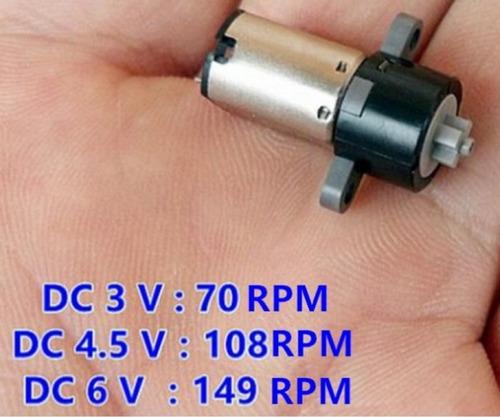 Imagen 1 de 4 de Motor Mini Reductor P/robotica 3-6vrobot Miniatura 70 Rpm4pz