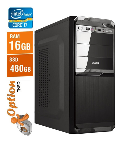 Pc Intel Core I7 16gb Com Ssd 480gb - Novo - Garantia - Nota