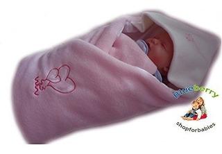 Lujoso Muy Caliente Fleece Swaddle Wrap, Manta, Sleeping Bag